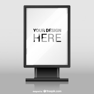 Billboard with Glass Texture Free Vector