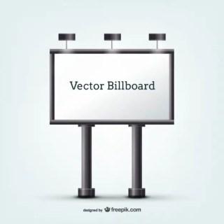 Billboard with Spotlights Free Vector