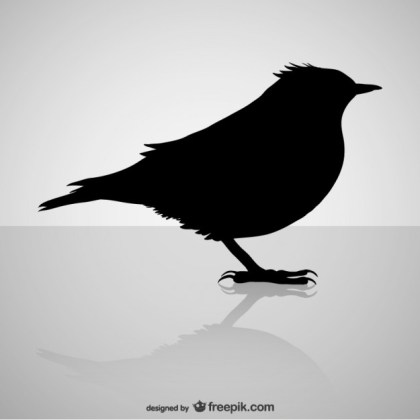 Bird Silhouette Design Free Vector