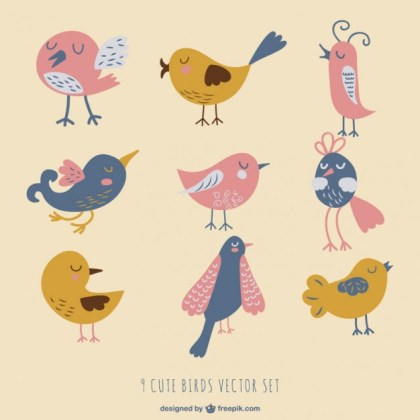 Birds Set Free Vector