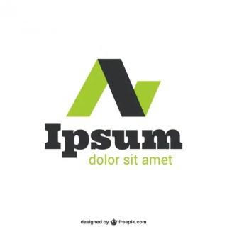 Black and Green Logo Free Vector