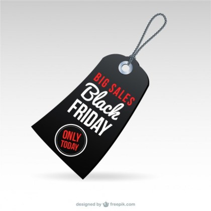 Black Friday Big Sales Tag Free Vector