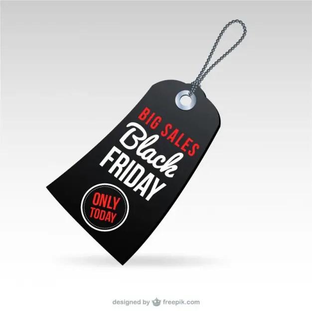 Black Friday Big Sales Tag Free Vector