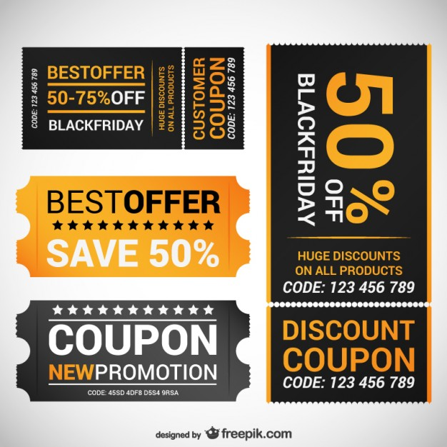 Black Friday Offer Coupons Free Vector