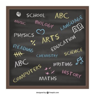 Blackboad School Concept Design Free Vector