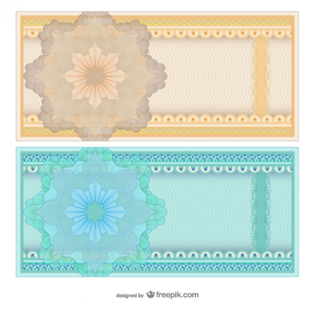 Blank Abstract Voucher Templates Free Vector