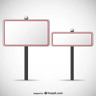 Blank Billboards Free Vector
