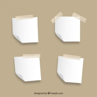 Blank Notes Collection Free Vector
