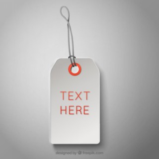Blank Price Tags Free Vector