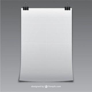 Blank Sheet of Paper Free Vector