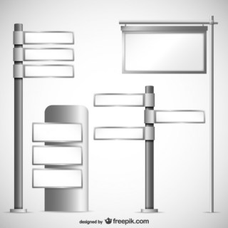 Blank Signs Pack Free Vector