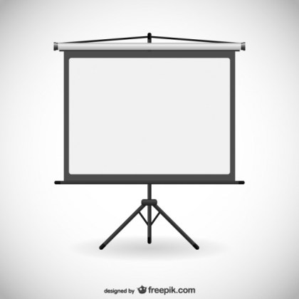 Board for Presentations Free Vector