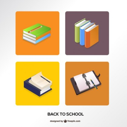 Books for Back To School Free Vector