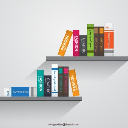 Bookshelves Realistic Free Vector