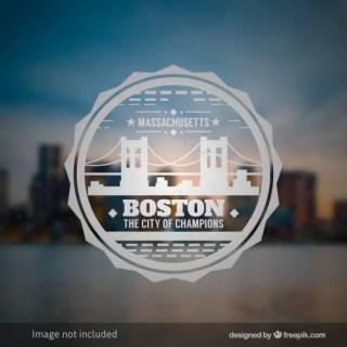 Boston Badge Free Vector