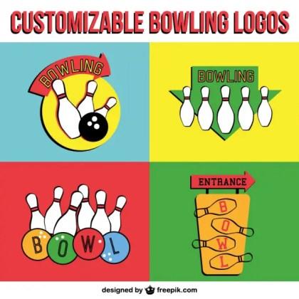 Bowling Logos Free Vector