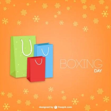 Boxing Day At Christmas Free Vector