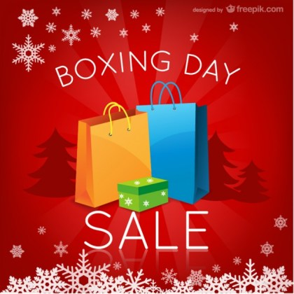 Boxing Day Sales Free Vector