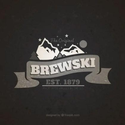 Brewski Vintage Badge Free Vector