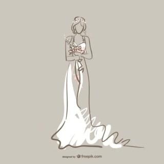 Bride Art Free Vector