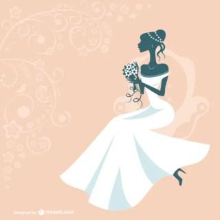 Bride Silhouette Design Free Vector