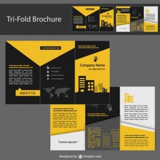 Brochure Corporate Identity Design Free Vector