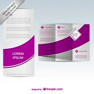 Brochure Mock-Up Design Free Vector