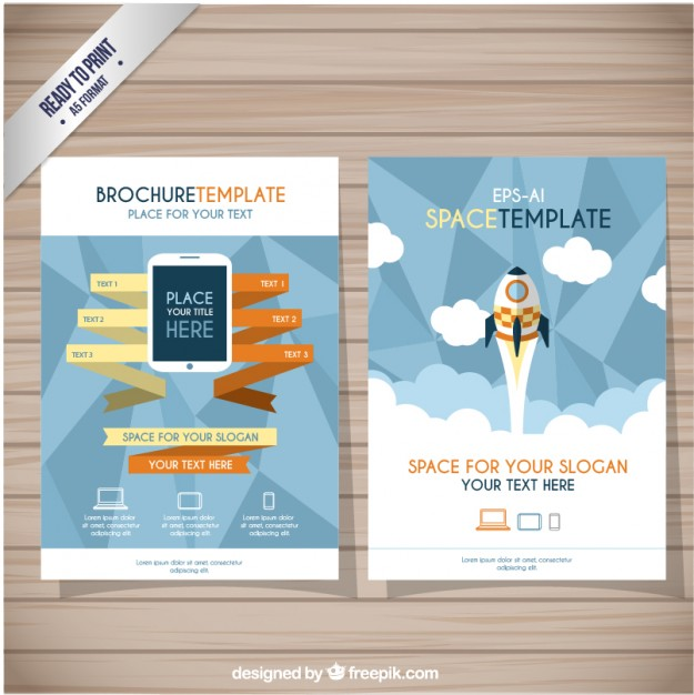 Brochure Template Free Vector
