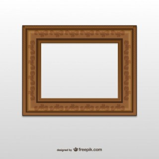 Brown Frame with Ornaments Free Vector