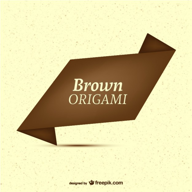 Brown Origami Label Template Free Vector