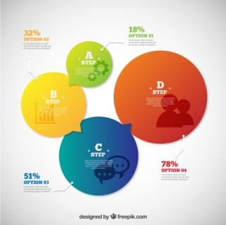 Bubbles Infographic Free Vector