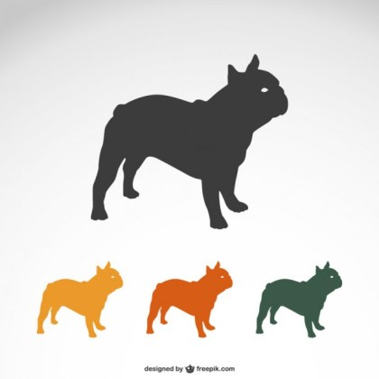Bulldog Silhouettes Free Vector
