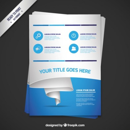 Business Brochure in Modern Style Free Vector