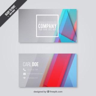 Business Card in Modern Design Free Vector