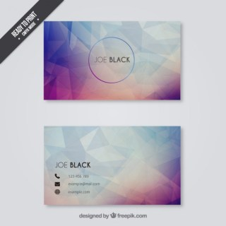 Business Card in Polygonal Style Free Vector