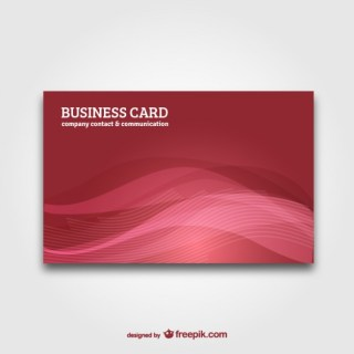 Business Card with Abstract Background Free Vector