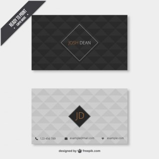 Business Card with Geometrical Pattern Free Vector