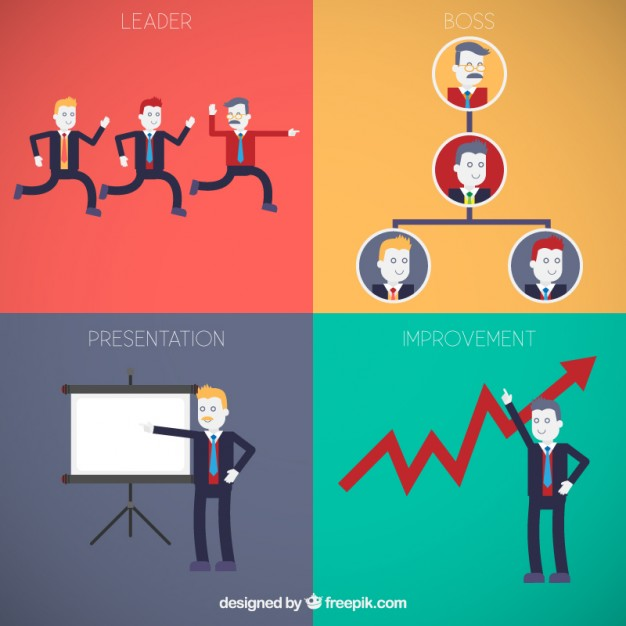 Business Characters Free Vector