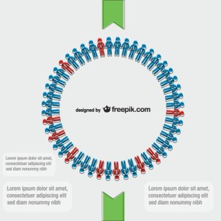 Business Circle of People Free Vector
