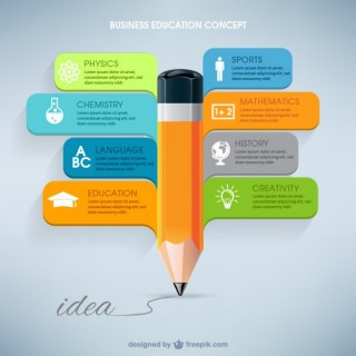 Business Education Infographic Free Vector