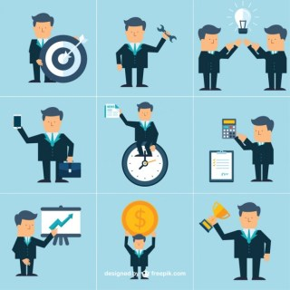 Business Icons Collection Free Vector