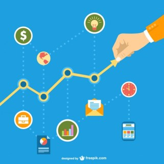 Business in Social Network Chart Free Vector
