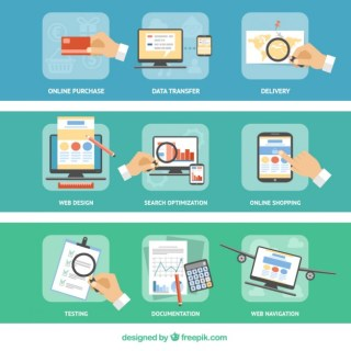 Business Office and Marketing Icons Free Vector
