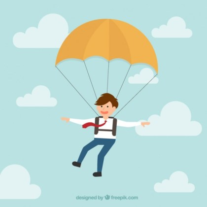 Business Parachutist Free Vector