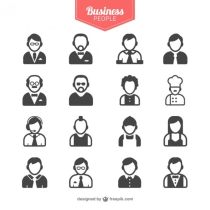 Business People Avatars Free Vector