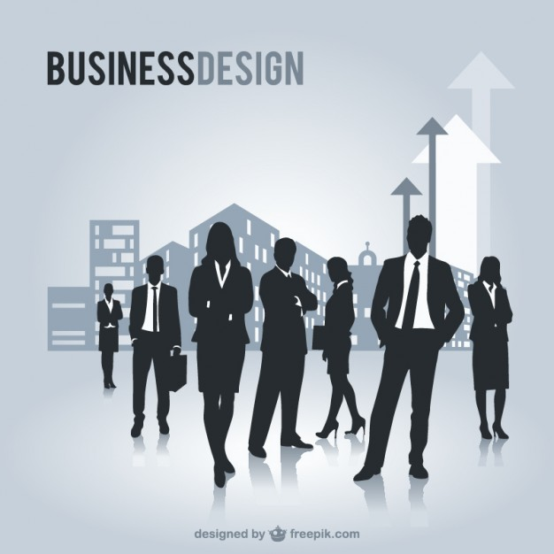 Business People Silhouettes Graphics Free Vector