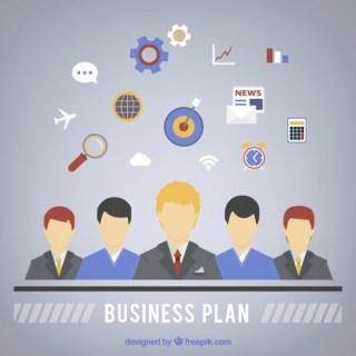 Business Plan Infographic Free Vector