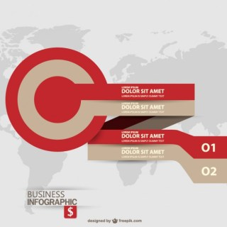 Business Target Label Infographic Free Vector