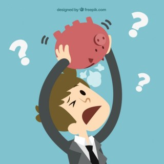 Businessman without Money Concept Free Vector
