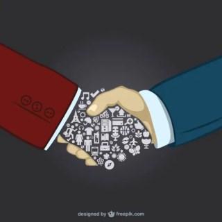 Businessmen Handshake Free Vector
